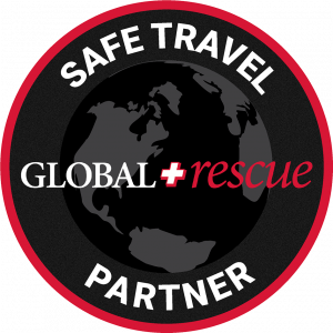 Global Rescue Safe Travel Partner Badge | Russian Mountain Holidays - RMH Elbrus Guides